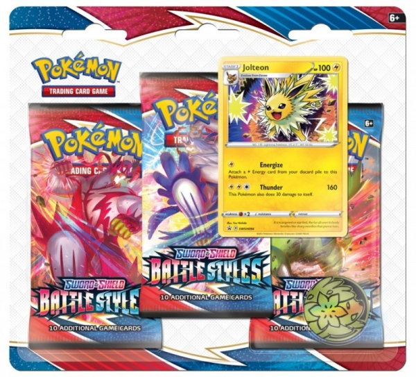 Karty Battle Styles 3-pack  Blister - Jolteon (80822 / 8227b)