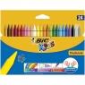 Kredki świecowe Bic Kids Plastidecor, 24 kolory (829772)