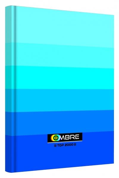 Brulion A5/96k.# Ombre niebieski 400089373 .
