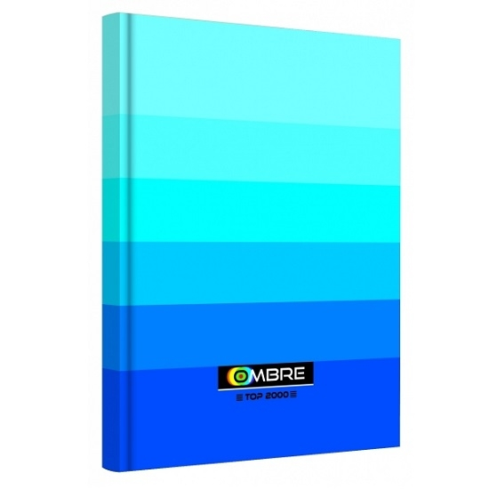Brulion Top 2000 Ombre, A5/96k, kratka - niebieski (400089373)