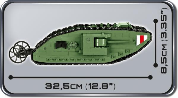Cobi: Mała Armia. Tank Mark I - czołg brytyjski (2972)