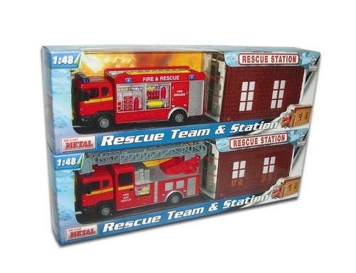 Stacja służb ratowniczych i samochód 1:48 (001-21962)