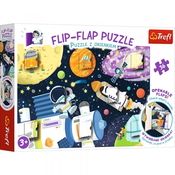 Flip-Flap Puzzle z okienkiem 36: Kosmos (14272)