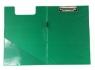 Deska A4 PVC z klipsem i okładką zielona D.RECT