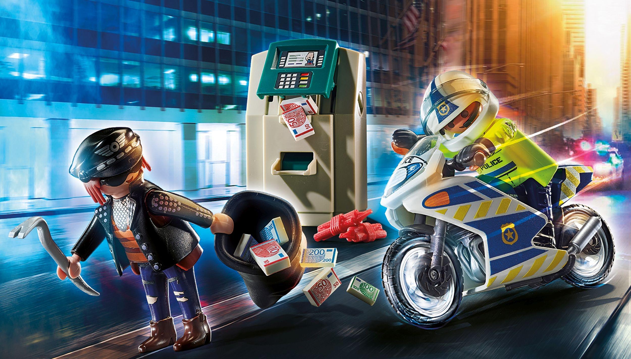 Playmobil City Action: Policyjny motor: Pościg za przestępcą (70572)