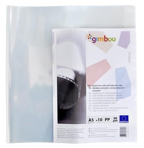 Okładka na książki GIMBOO z samoprzylepnym brzegiem A5 10 sztuk