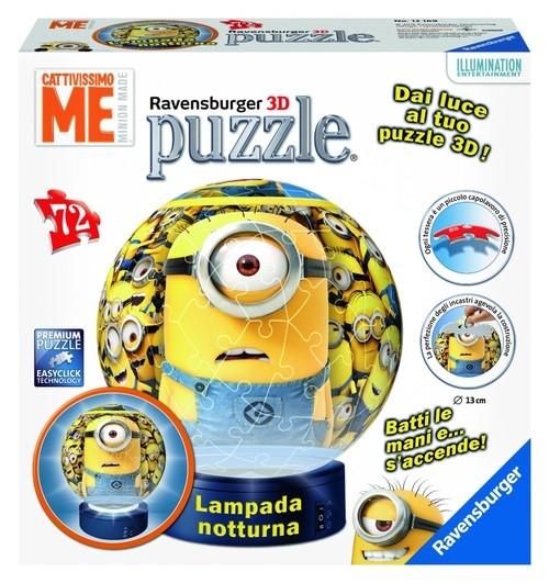 Puzzle 3D kuliste Minionki - Lampka (121724)