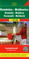 Rumunia Mołdawia mapa drogowa 1:700 000