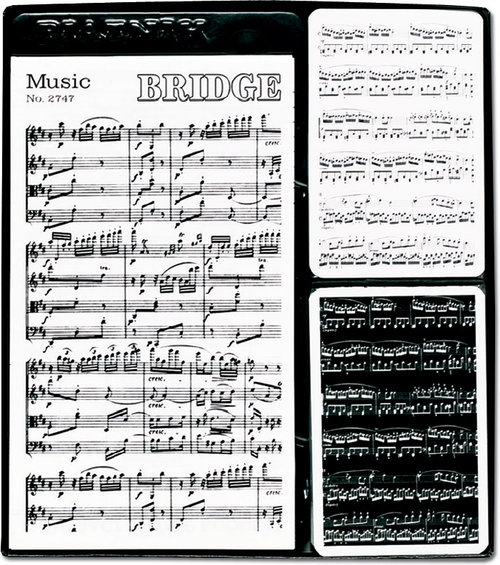 Zestaw brydżowy z bloczkiem Muzyka 2 talie