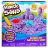 Kinetic Sand: Piasek kinetyczny - Zamek. Zestaw z piaskownicą - Fioletowy
