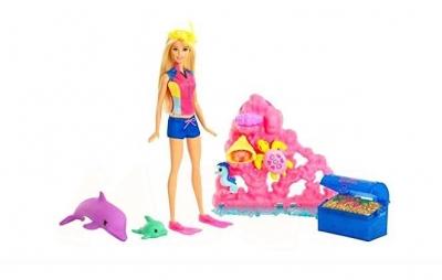 Barbie Dolphin Magic. Skarby Oceanu Zestaw + lalka