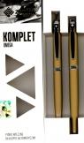 Komplet Zenith Omega wieczne+długopis złoto