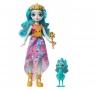 Entchantimals: Lalka Królowa Paradise i paw Rainbow (GYJ11/GYJ14)