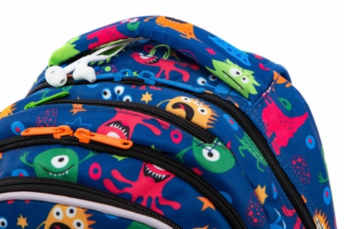 Coolpack - Joy M - Plecak Młodzieżowy -  Led Funny Monsters (A20206)