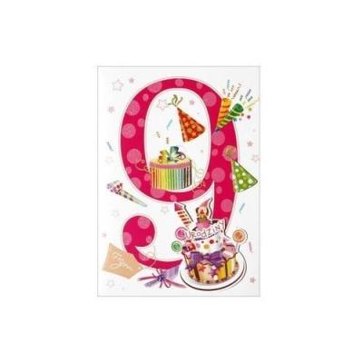 Karnet 9 urodziny HM-200-999 .