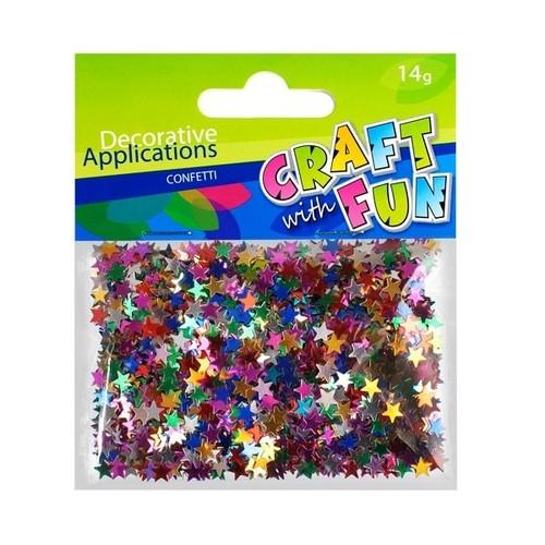 Ozdoby Confetti metaliczne gwiazdki