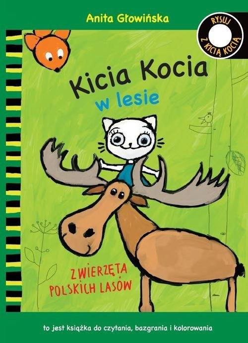 Kicia Kocia w lesie Zwierzęta polskich lasów Kolorowanka Głowińska Anita