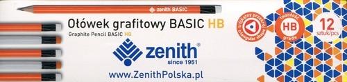 Ołówek Zenith Basic trójkątny z gumką HB - box 12 sztuk