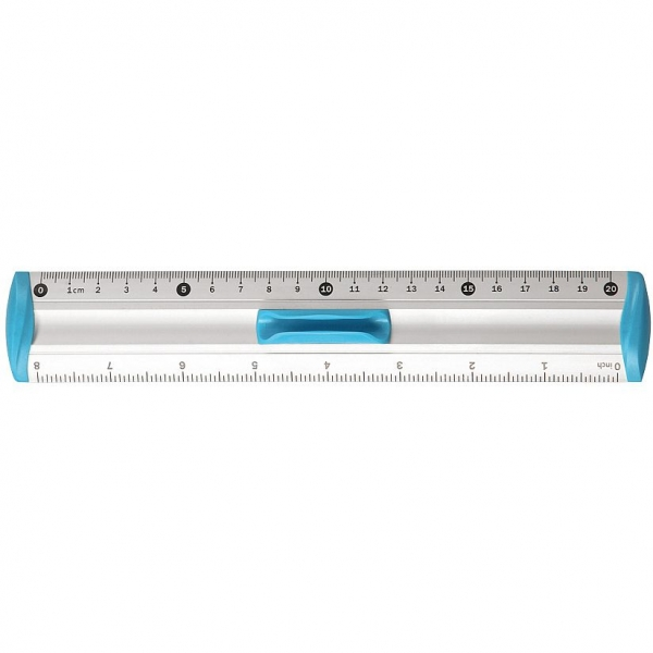Linijka aluminiowa Tetis 20cm - niebieska (BL040-NB)
