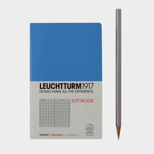 Notatnik Pocket Leuchtturm1917 w kratkę chabrowy 341561
