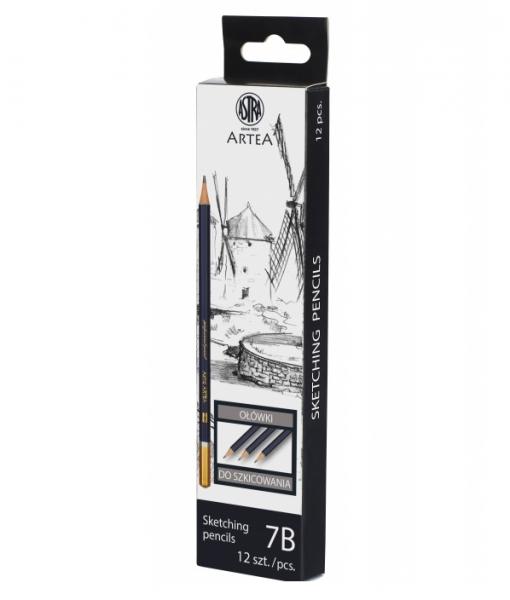 Ołówek do nauki szkicowania 7B Astra Artea - box 12 sztuk (206119002)