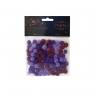 Pompony ozdobne 100/10mm fioletowe