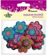 Naklejki filcowe z klejem kwiatki 10 sztuk