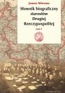 Słownik biograficzny starostów Drugiej Rzeczypospolitej