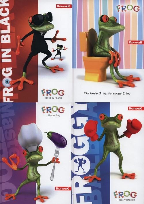 Zeszyt A5 w linie 60 kartek Frog 10 sztuk mix
