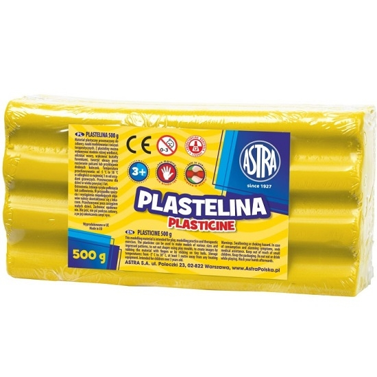 Plastelina Astra, 500 g - żółta (303117003)