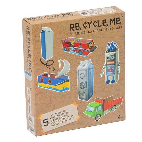 Re-Cycle-Me, Zestaw Kreatywny - Sejf - 5 zabawek