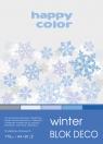Blok deko winter A4 170g 20ark 5 kolorów