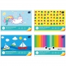 Zeszyt papierów kolorowych A4/10 kartek (5938)