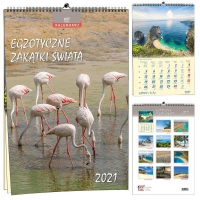 Kalendarz 2021 13 Plansz Egzotyczne zakątki świata