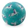 Piłka 7'' 18cm, wzór Konie, Crocodile Creek