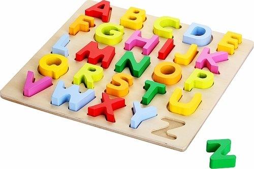 Top Bright Puzzle drewniane duże - Kształty literek (1581730)