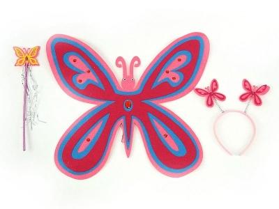 Skrzydełka Adar motylka a la filc, z różdżką i opaską (443730)