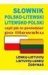 Słownik polsko-litewski litewsko-polski czyli jak to powiedzieć po litewsku