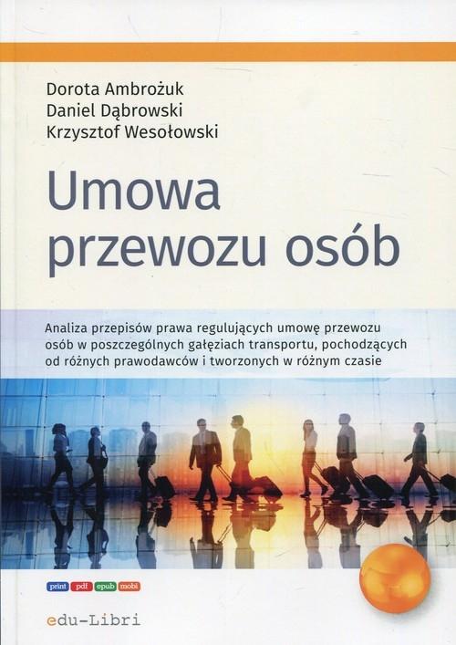 Umowa przewozu osób Ambożuk Dorota, Dąbrowski Daniel, Wesołowski Krzysztof