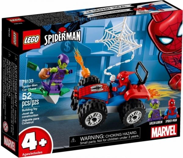 Klocki Super Heroes Pościg samochodowy Spider-Mana (76133)