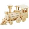 Puzzle drewniane 3D lokomotywa DZ08