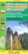 Mapa tur. Góry Stołowe, Wałbrzyskie, Kamienne