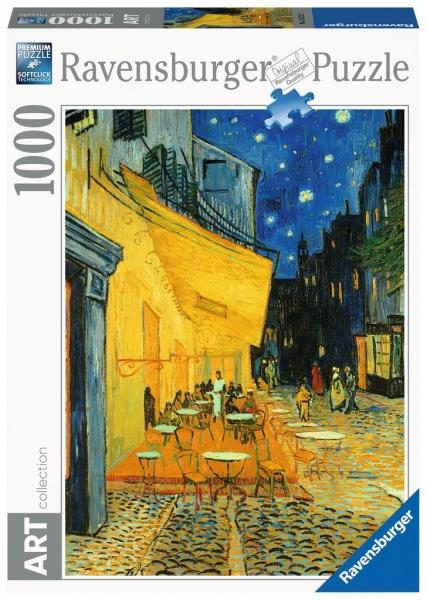 Puzzle 1000: Van Gogh, Taras kawiarni nocą