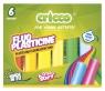 Plastelina fluorescencyjna Cricco, 6 kolorów (CR371K6)