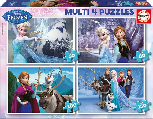 Puzzle Multi Kraina Lodu 50-80-100-150 (16173)