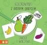 Kolorowanki z grubym obrysem Owoce i warzywa
