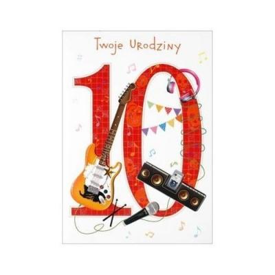 Karnet 10 urodziny HM-200-1000 .