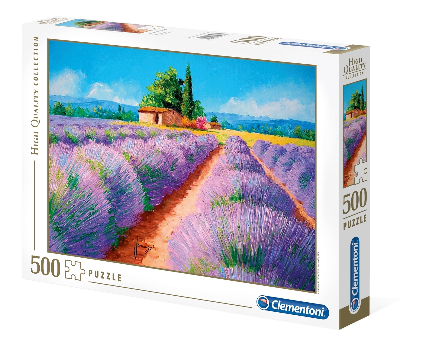 Clementoni, puzzle High Quality Collection 500: Lawendowy Zapach (35073)