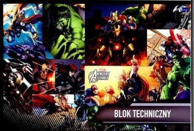 Blok techniczny A4 Avengers