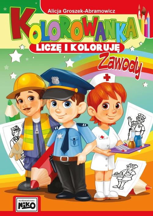 Kolorowanka Liczę i koloruję Zawody Groszek-Abramowicz Alicja